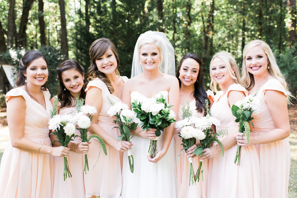 atlanta wedding photographer pink bridesmaids dresses