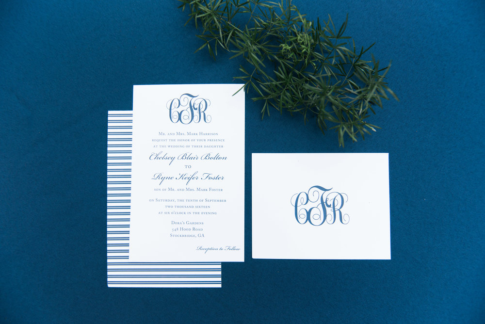 atlanta wedding photographer invitation suite