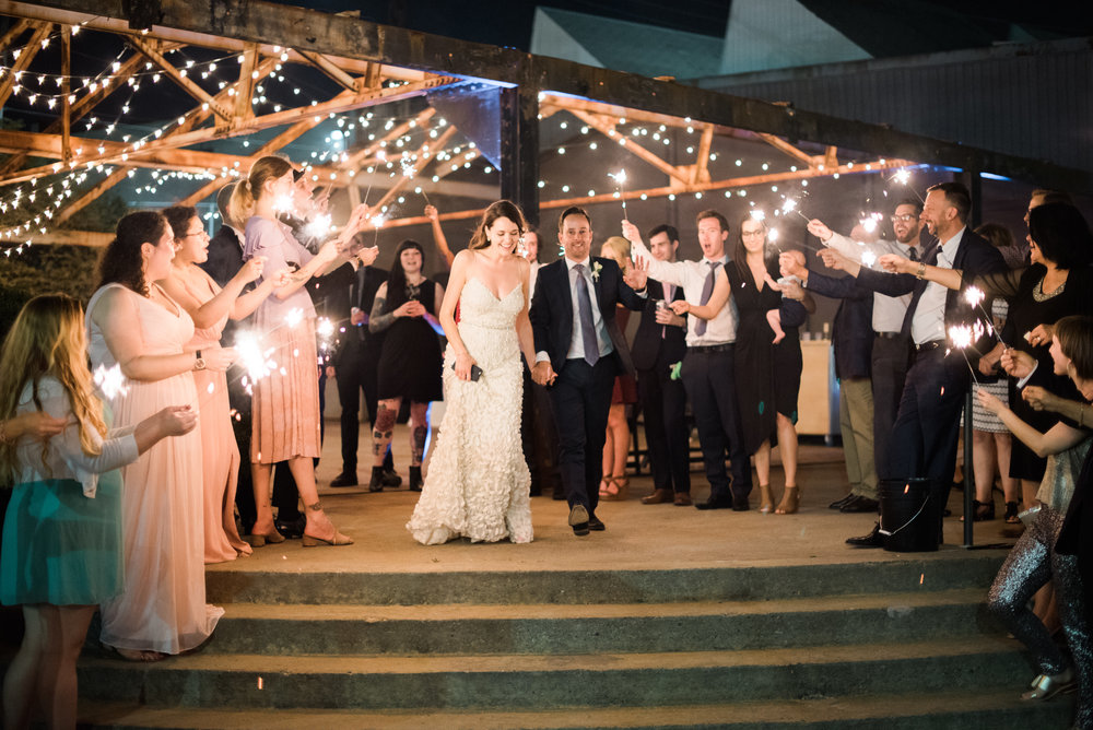 sparkler exit atlanta wedding photographer