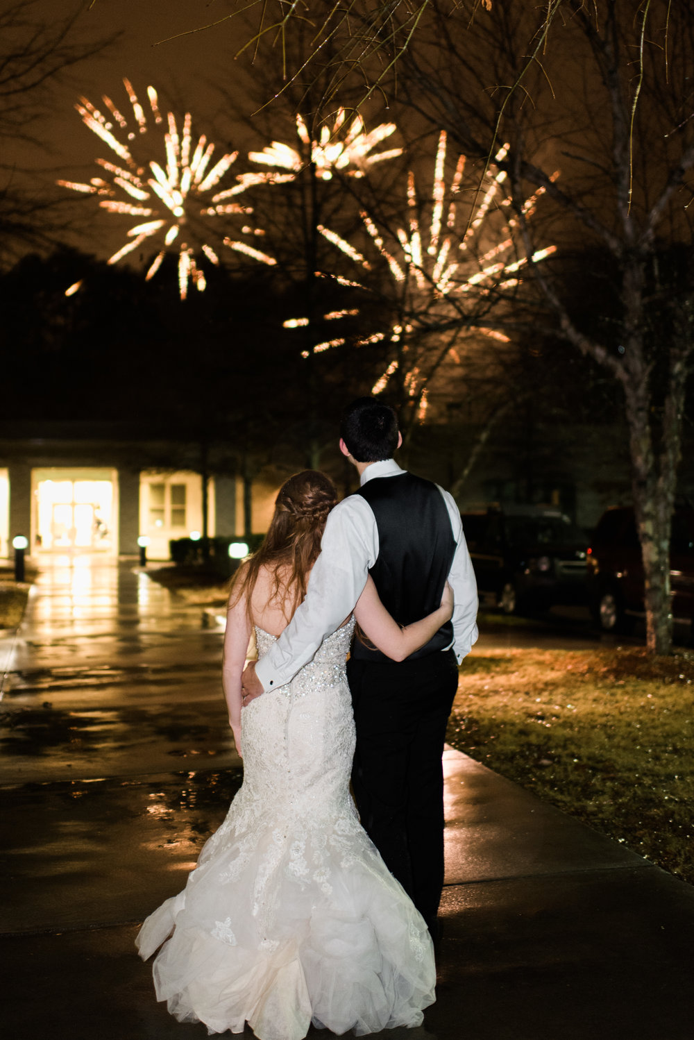 atlanta greek wedding fireworks
