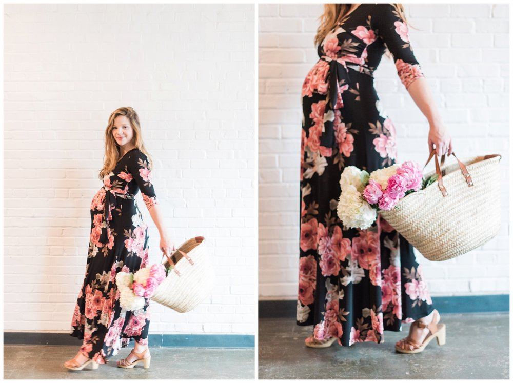 atlanta maternity session pink blush