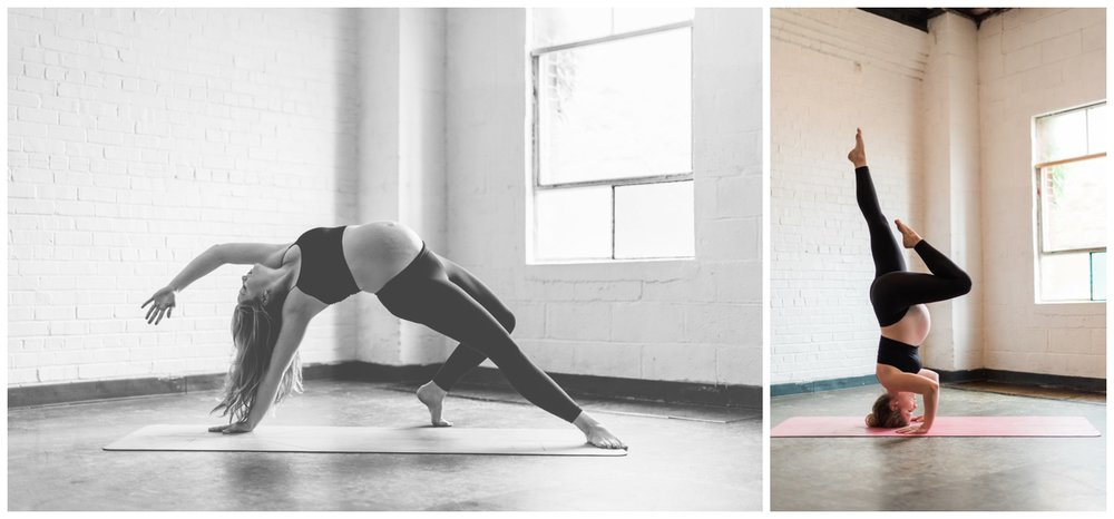 atlanta maternity session yoga
