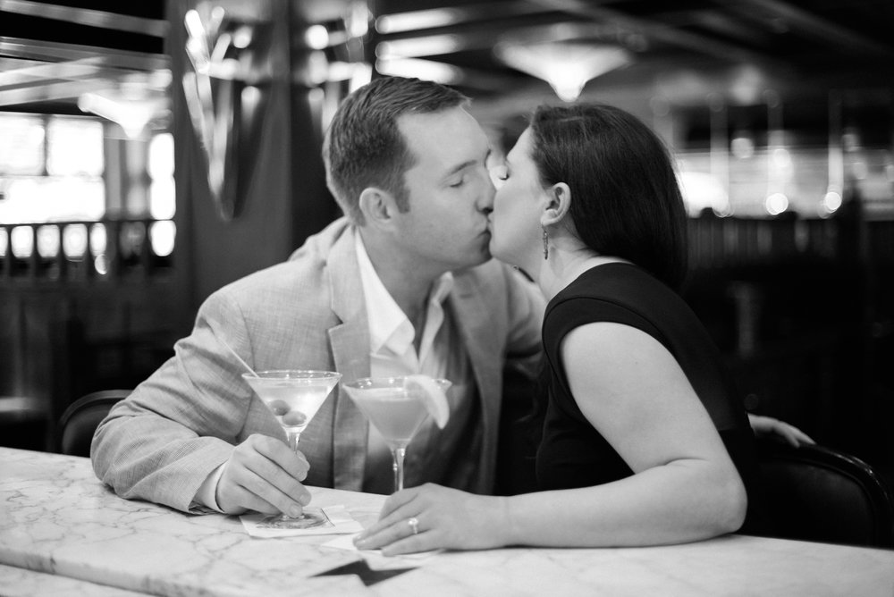 chops restaurant engagement session