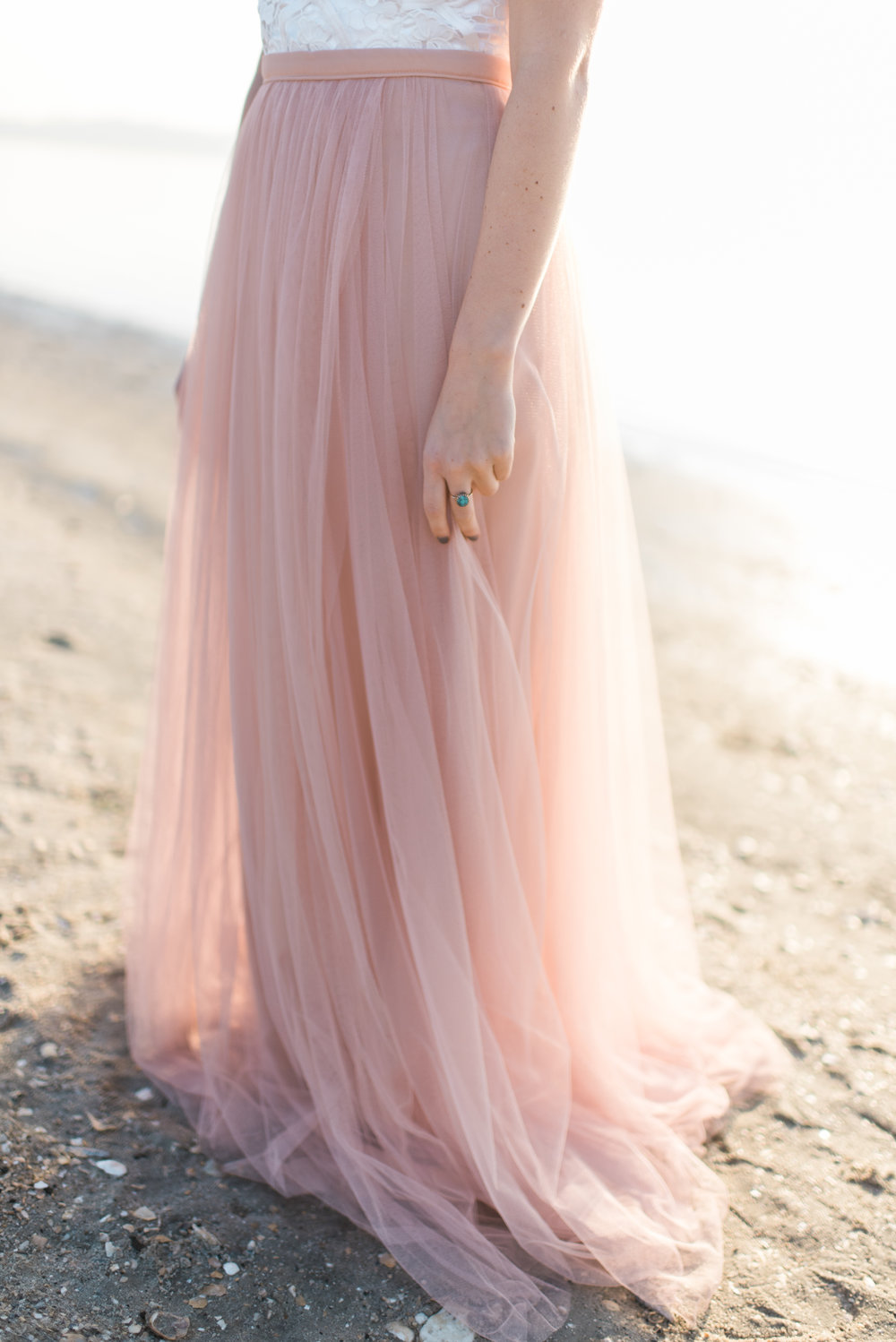 south carolina coastal beach bridal shoot