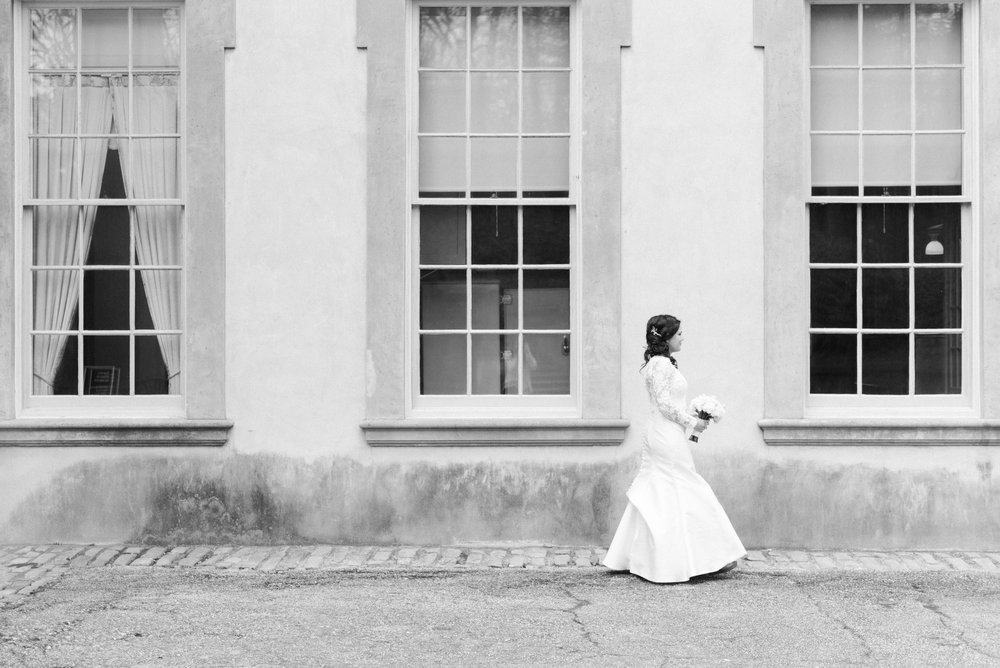 swan house wedding bridal portrait