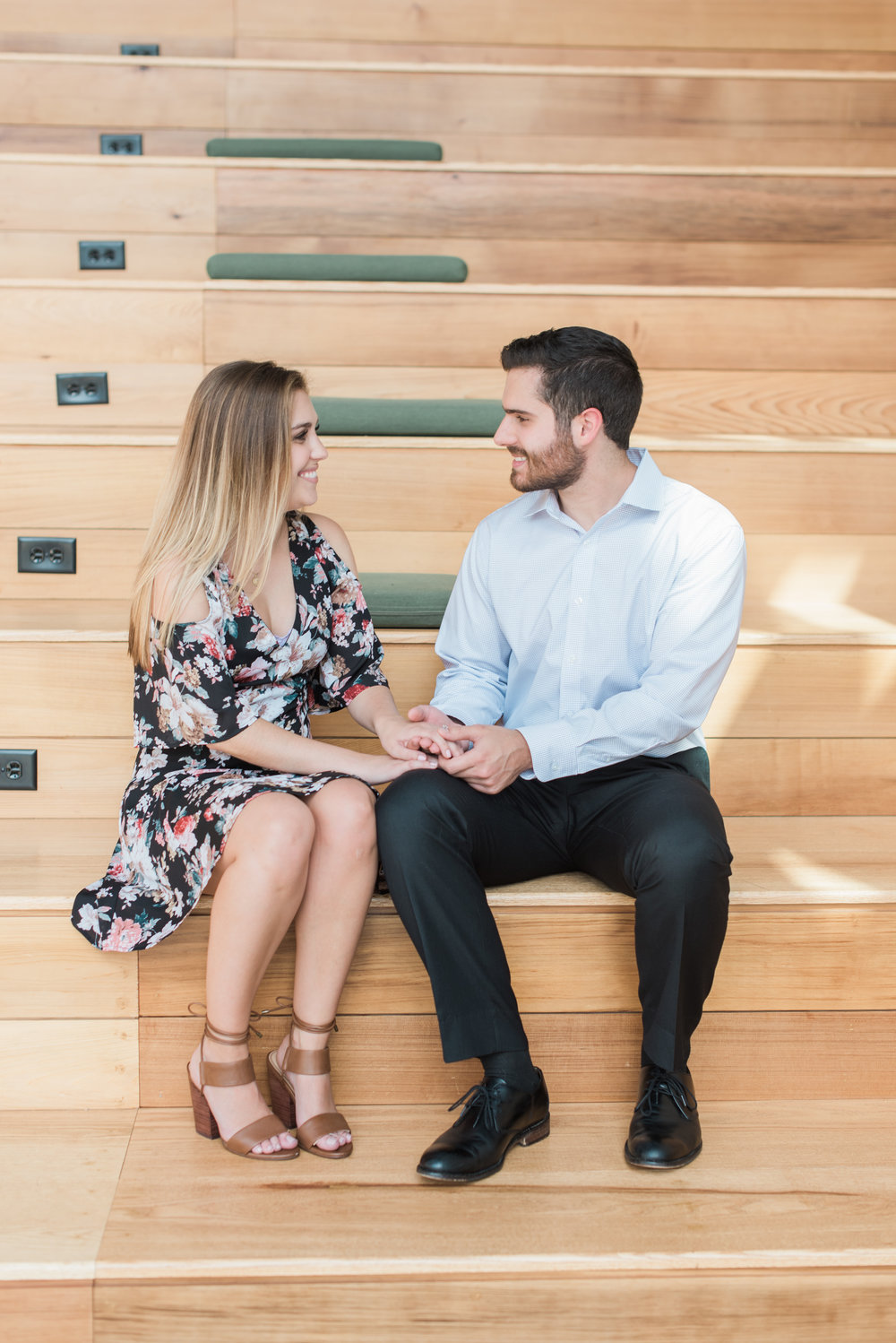 east pole coffee co atlanta engagement session