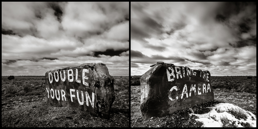 Double Your Fun  (dyptych) Valle, AZ 2011