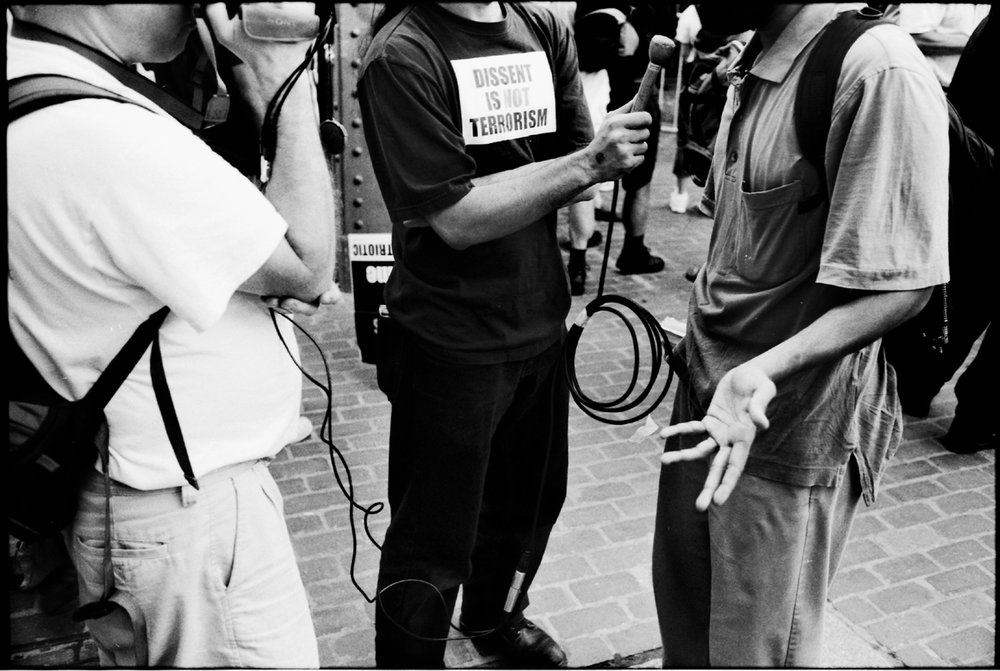 Free Speech Pit, Democratic National Convention  Boston 2004