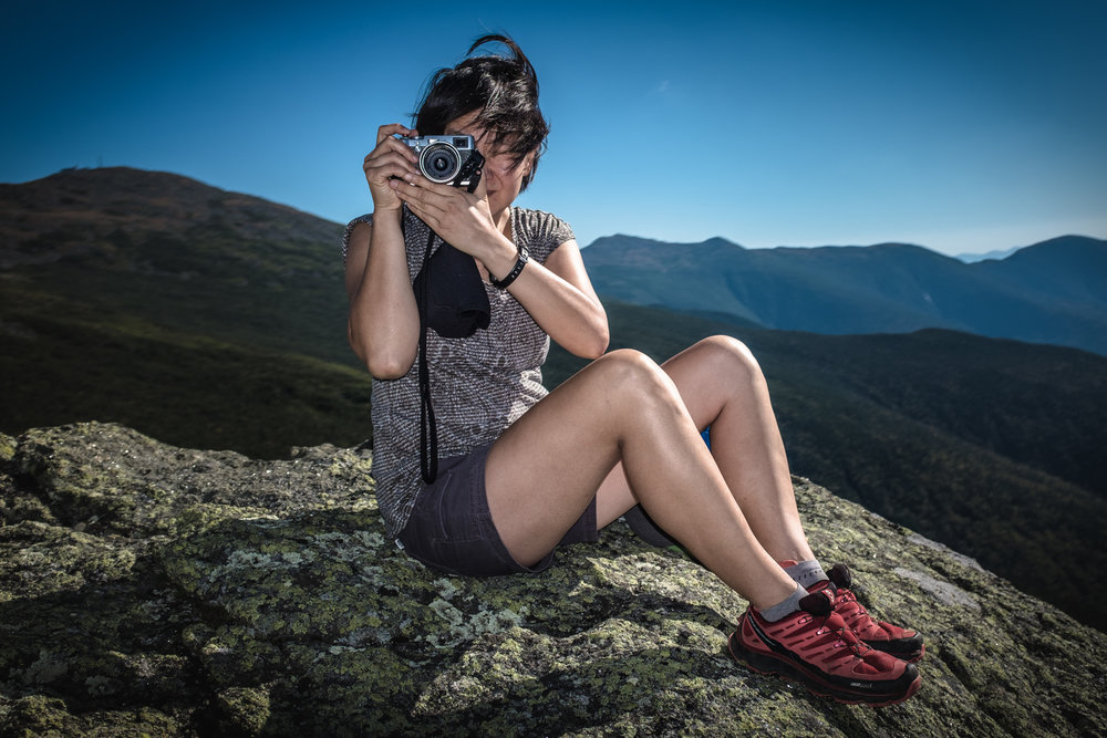 Jenny Chang on Mt. Jefferson   White Mountain National Forest, NH 2015