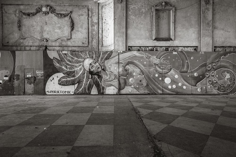 A mural inside the Asbury Casino