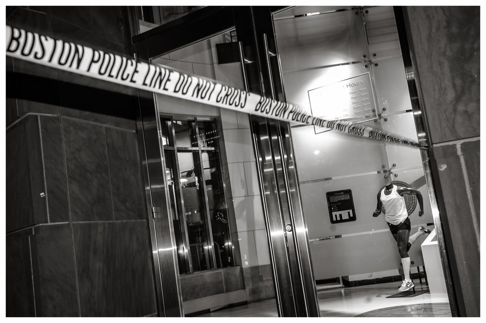 Aftermath: Police Line  Boston Marathon Bombing, 2013