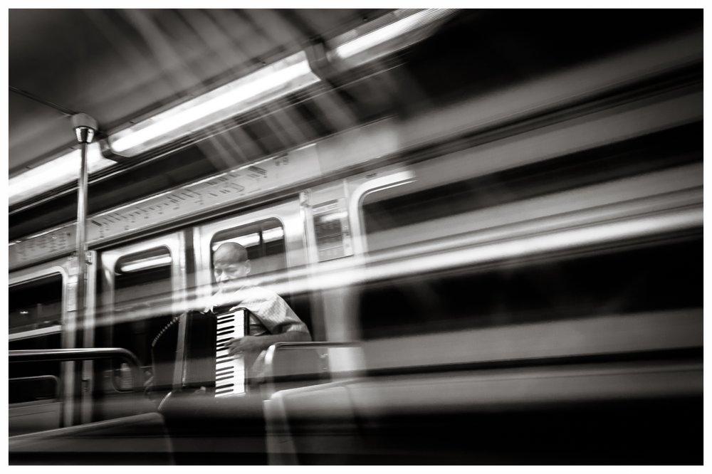 On the Metro  Paris 2010