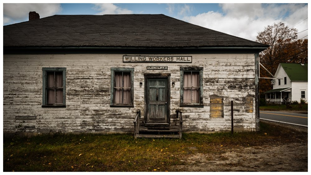 Willing Workers Hall   Glencliff, NH 2017