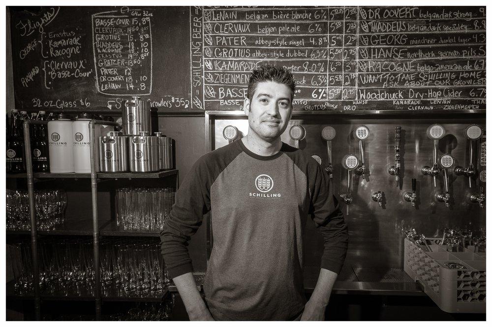 Bartender Jeremy Hand, Schilling Beer Co. Littleton, NH 2014