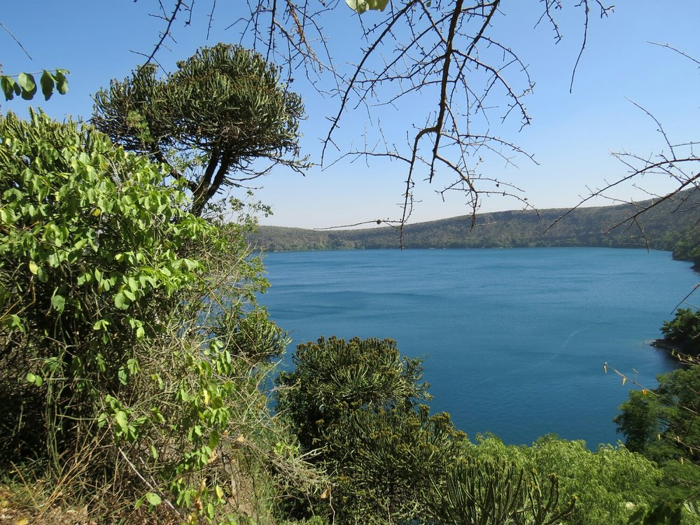 The view from the rim of Lake Chala.