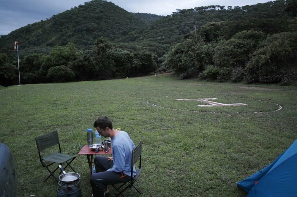 Camp at Utengule. Photo: K. Fleurial