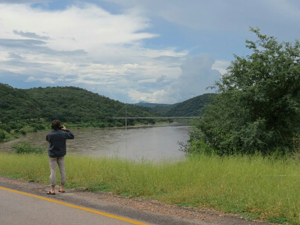 The bridge over the Luangwa river.