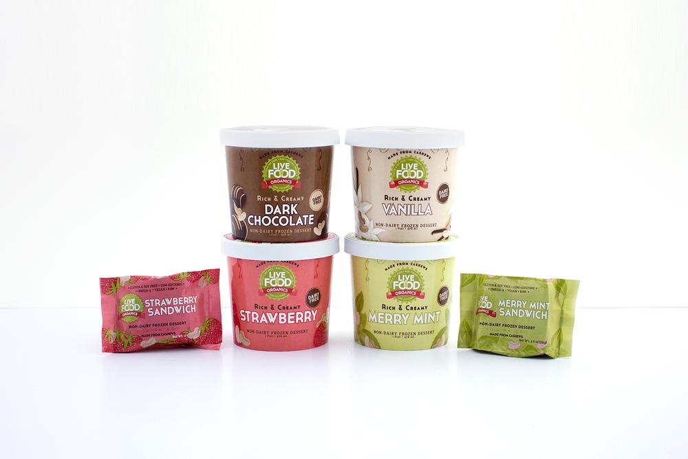Live Food Organics Frozen Desserts   Packaging - PRINT