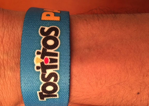 Tostitos RFID wearable tag in use at #partyblvd