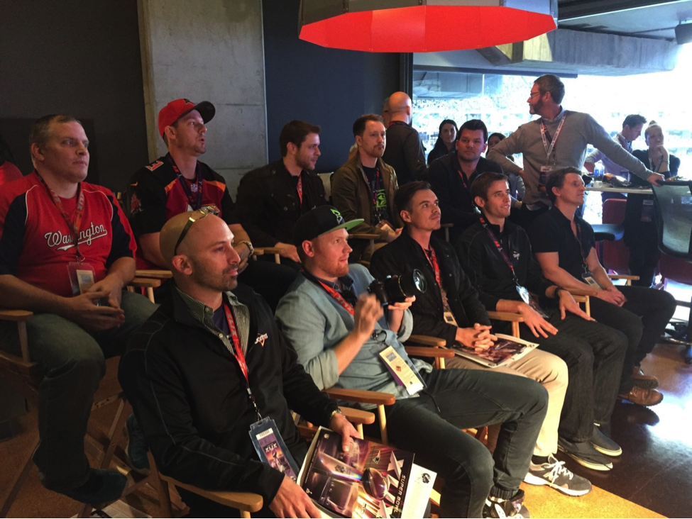 The 10 Crash the Super Bowl finalists at the Doritos suite getting ready to find out in real time who the winner was.
