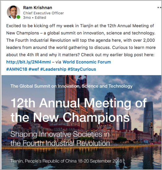 5d825ed4376d This past year I attended two global gatherings that hadn t been on my  radar before moving East  The WEF s annual Meeting of New Champions in  Tianjin and ...