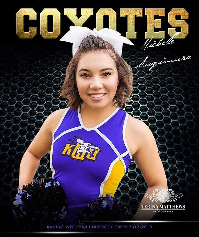 Had a great time capturing this sweet girls #cheer pics #kdub #rollyotes #collegecheer #kansas #kwu #cheerleading #cheerleader @kwucoyotes