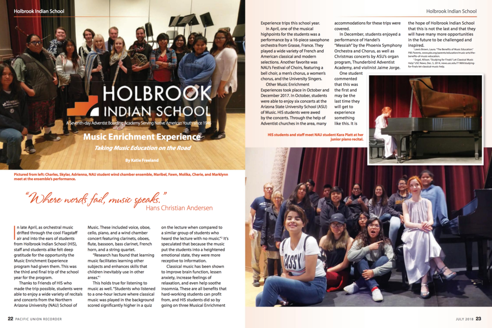 Press Holbrook Indian School