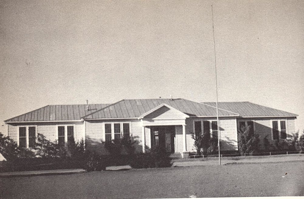 The old administration building containing offices and classrooms