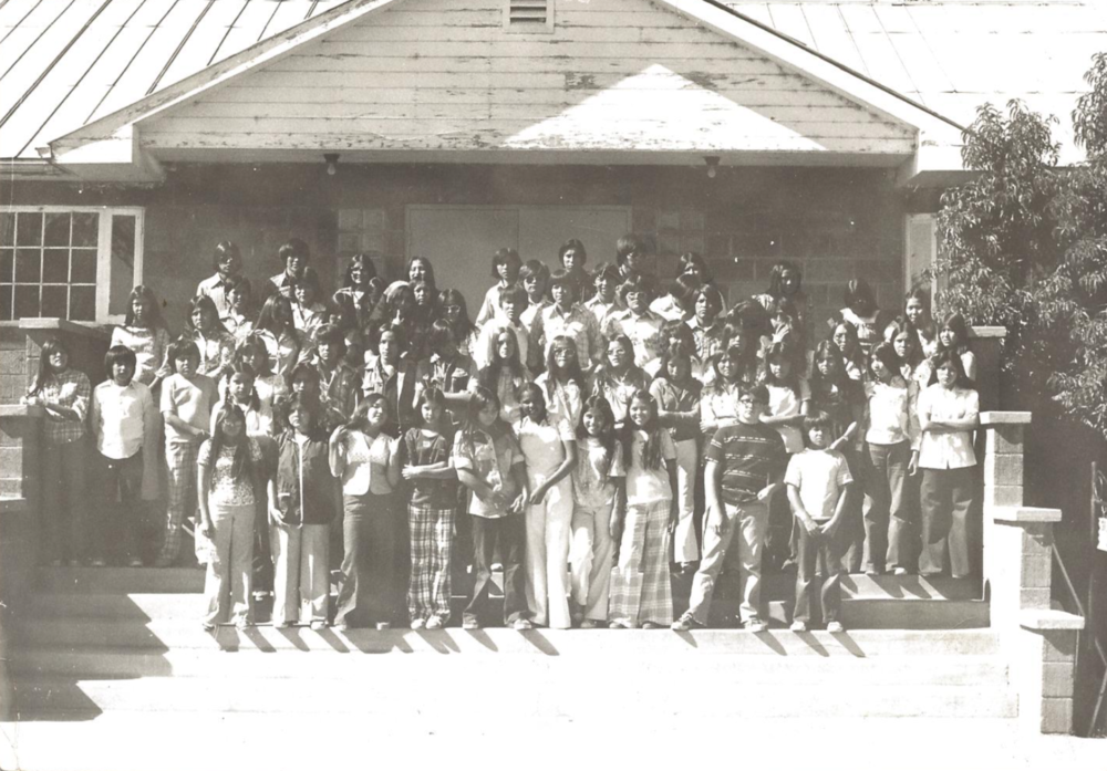 Holbrook Indian School students in the 1970's