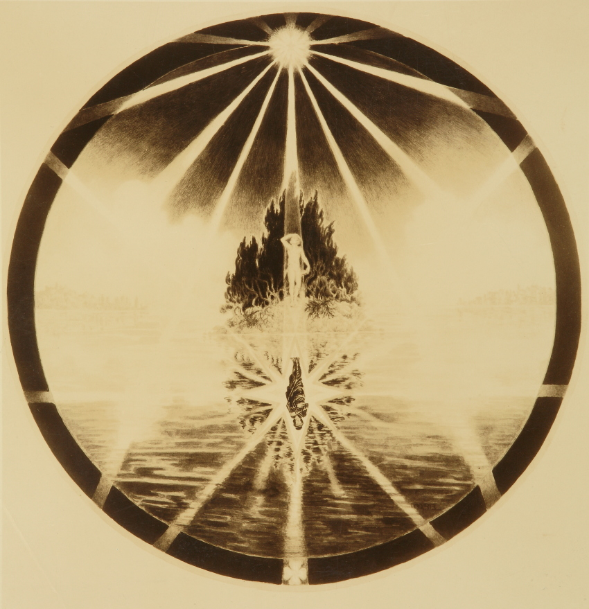 Photo sent to Jung of mandala, 1932. The painting is lost.