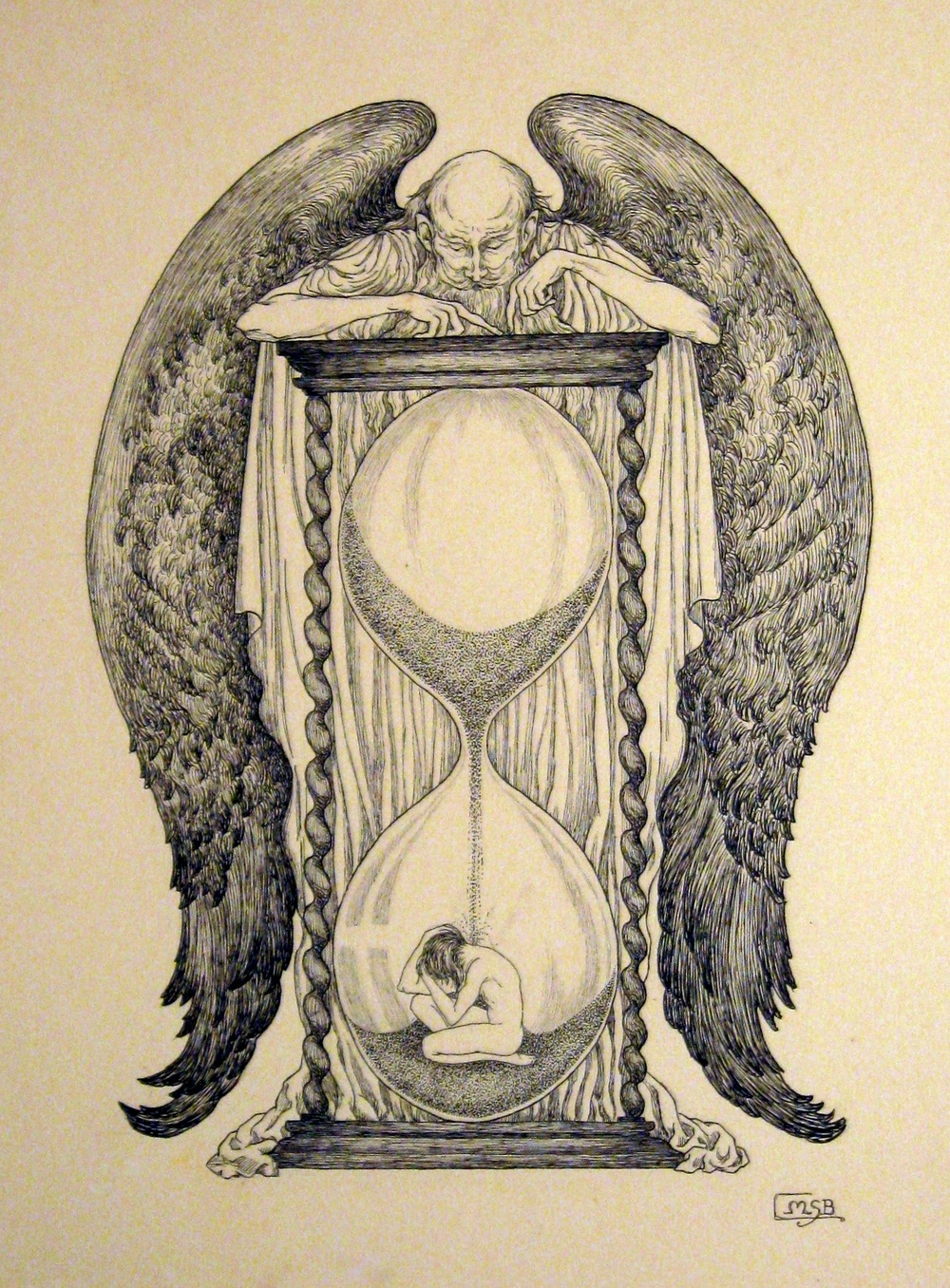 MSB, Mere Passing of Minutes, an illustration for an essay on time. c. 1940's