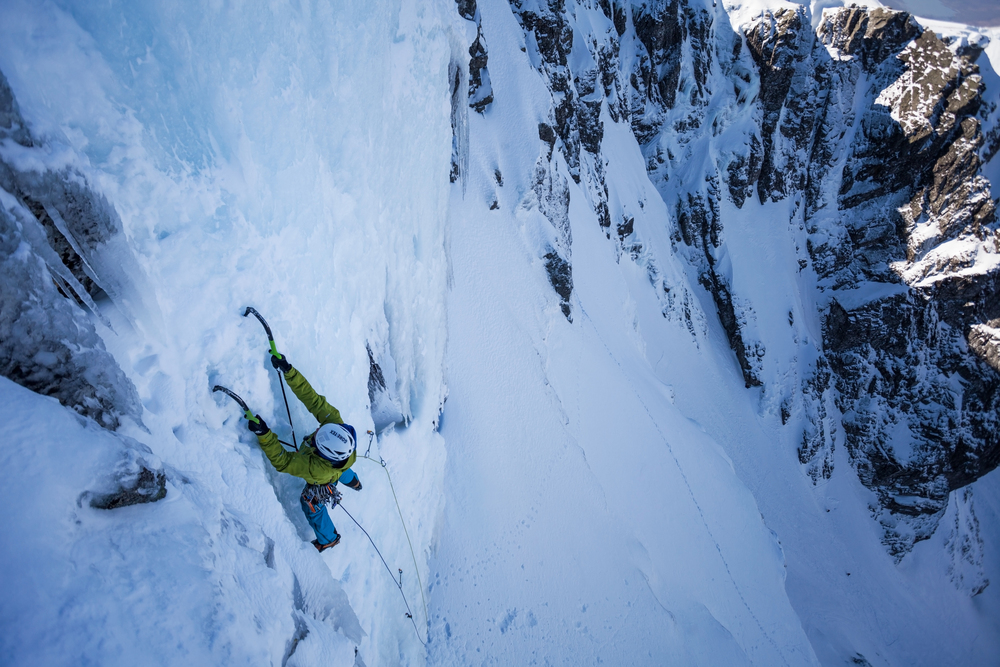 Dave on the first pitch of Pink Panther (Photo: Paul Diffley).