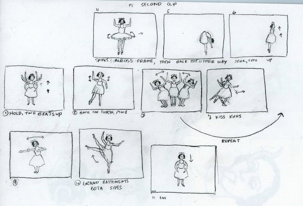 Storyboard for 15 second animation