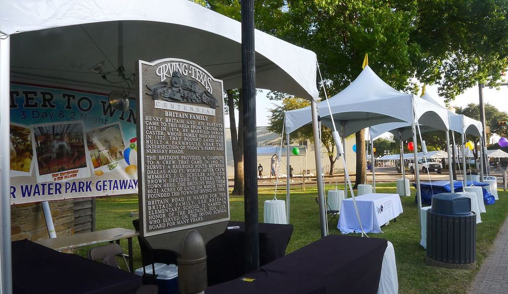 High Peak Frame Tent City of Irving MainFest & At Once Party Rental