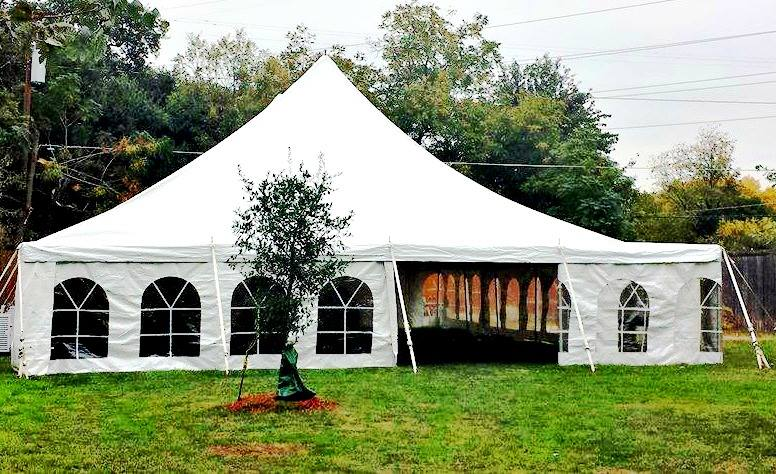 40x40 Pole Tent & Tent Rentals u2014 At Once Party Rental