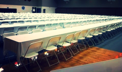 Chairs for banquest from at once party rental