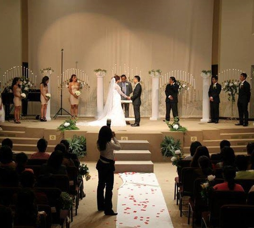 Wedding using Candelabra