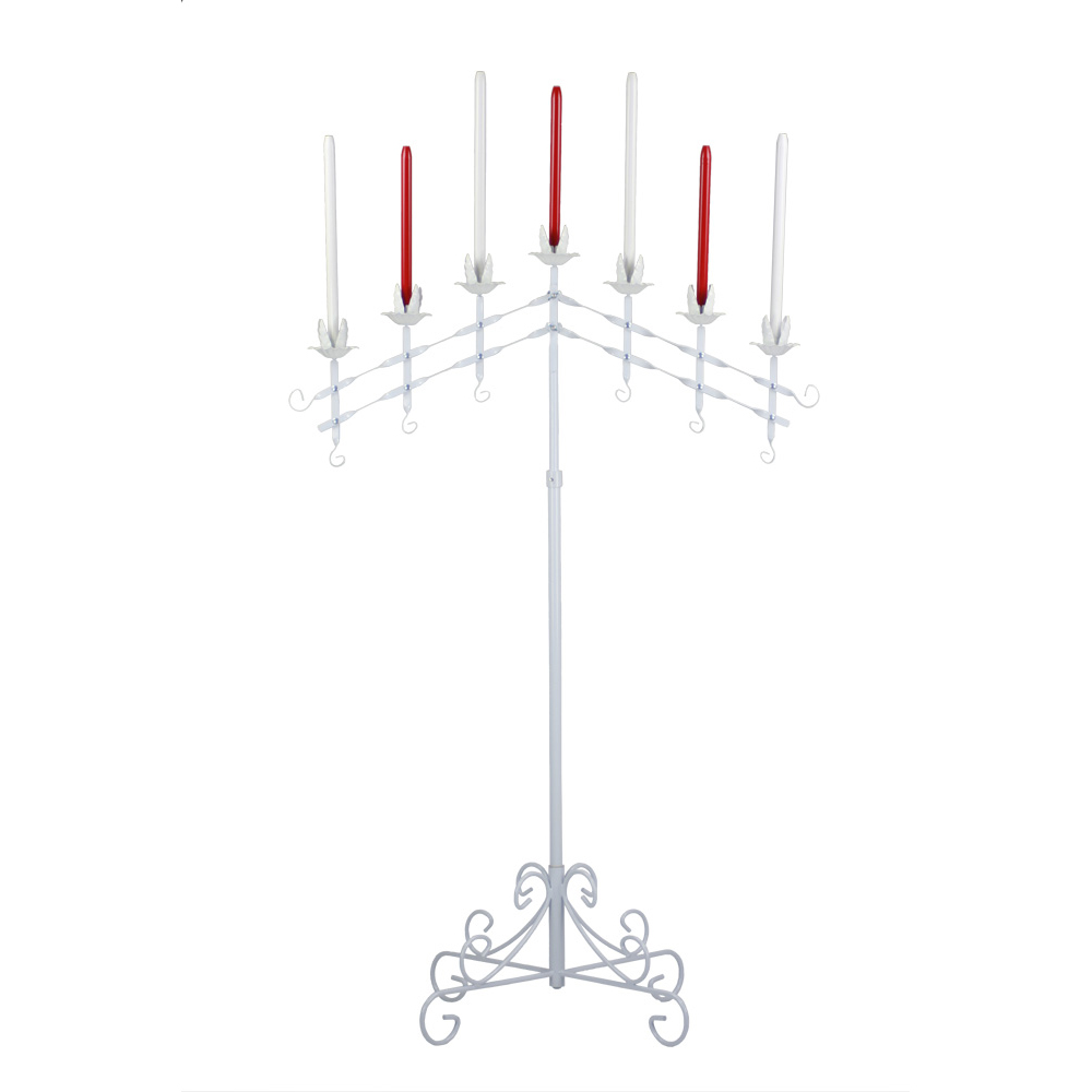 Adjustable Candelabra in White 7-light