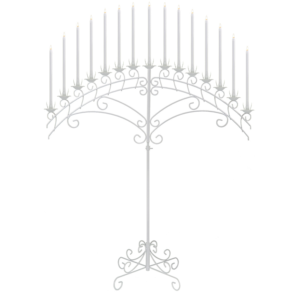 15-light Fan Candelabra in White