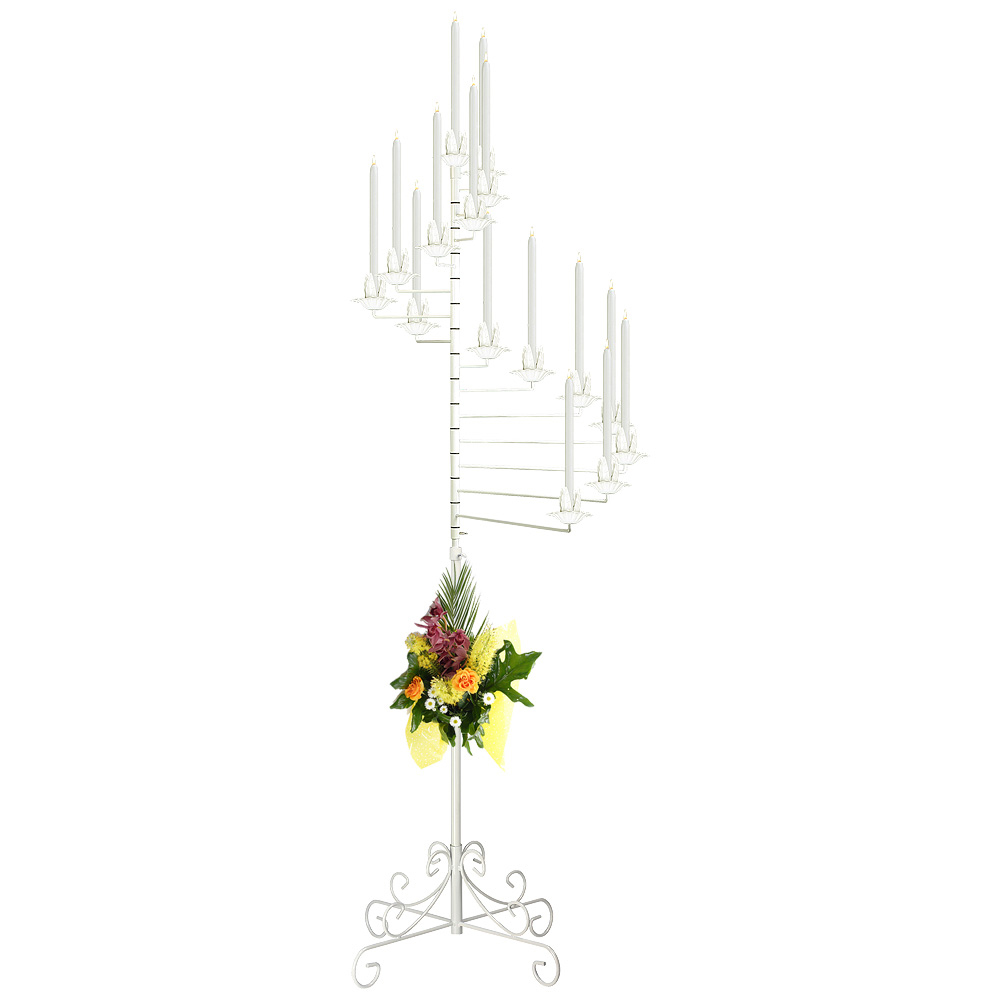 15-light Spiral Candelabra in White