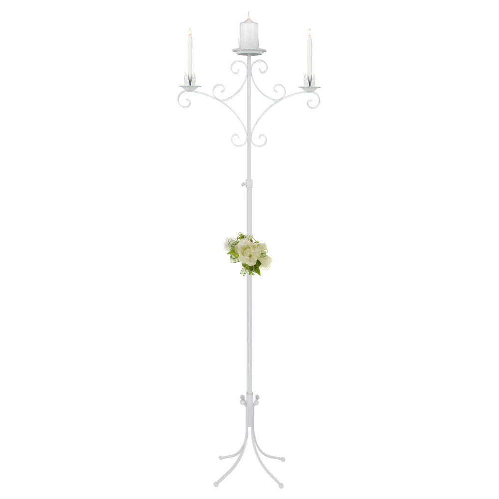 Unity Candelabra in white 2 light