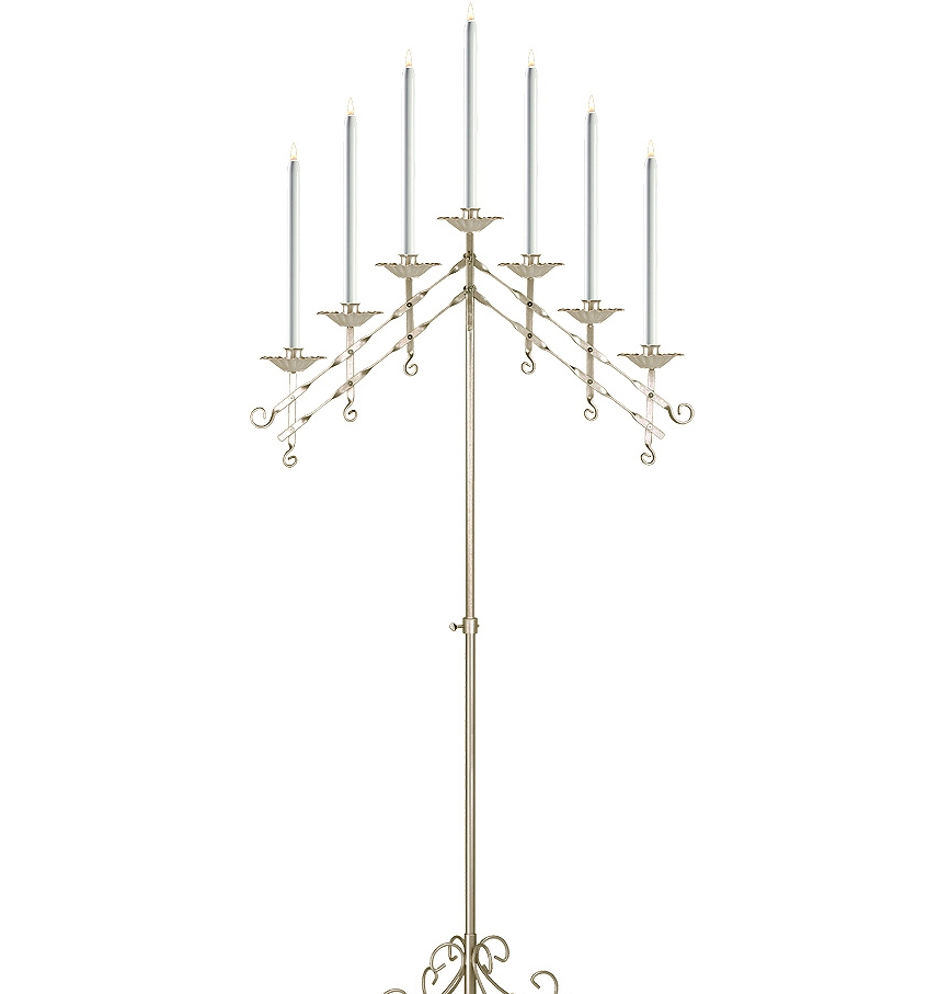 Adjustable Candelabra in Brass 7-light