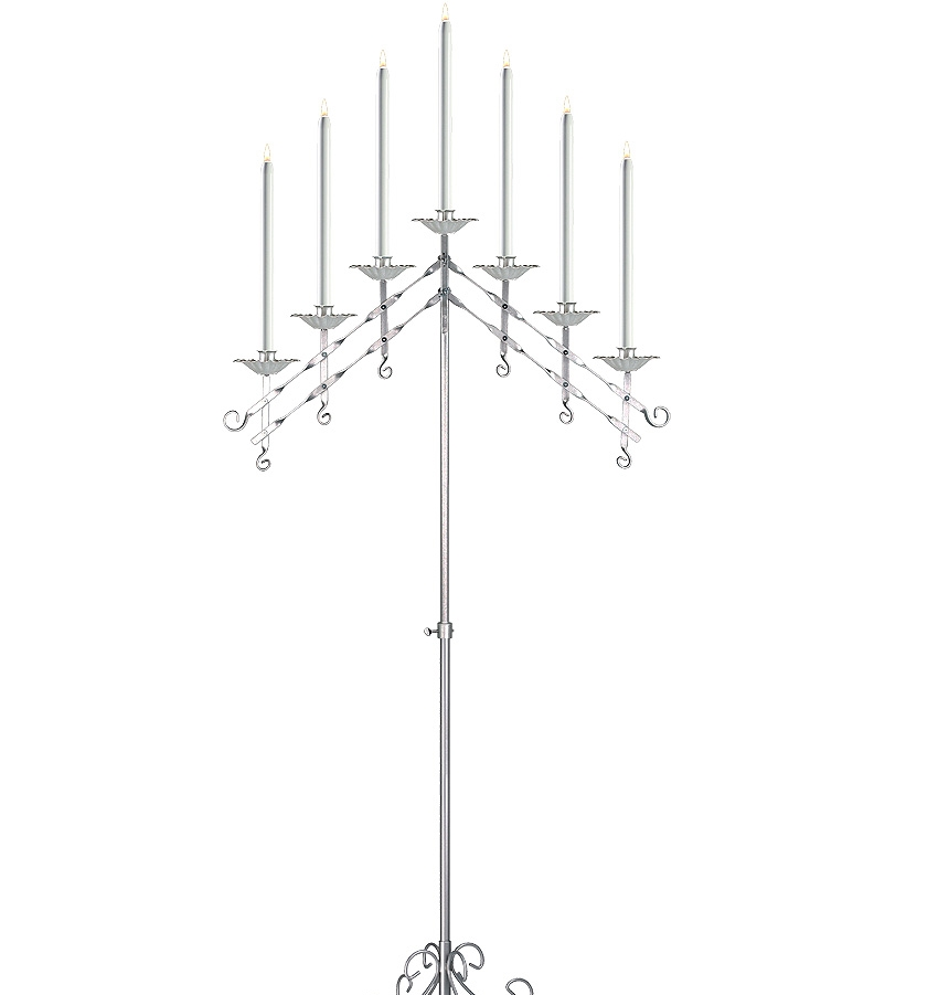 Adjustable Candelabra in Silver 7-light