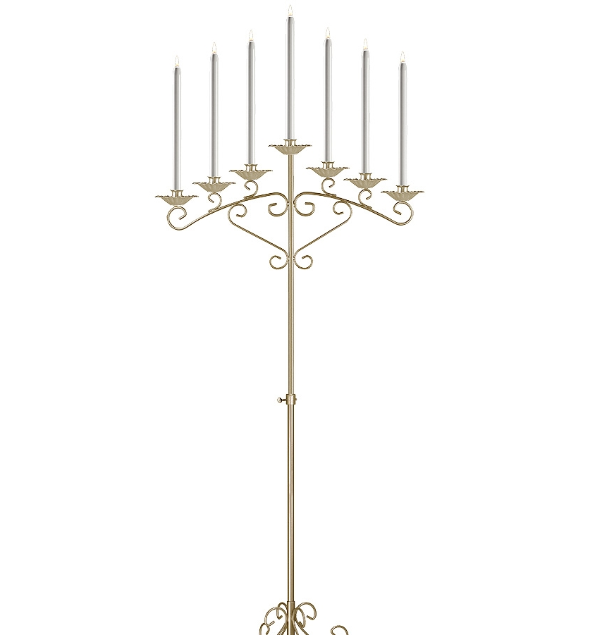 Fan Candelabra in Brass 7-light