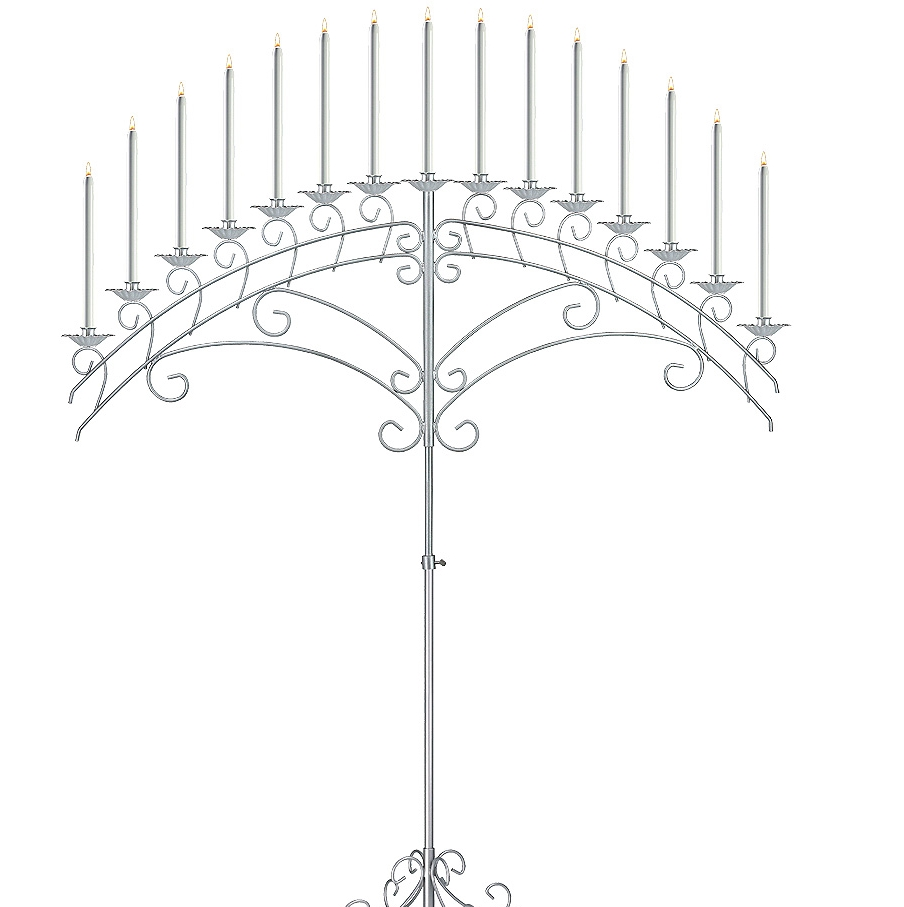15 light Fan Candelabra in Silver
