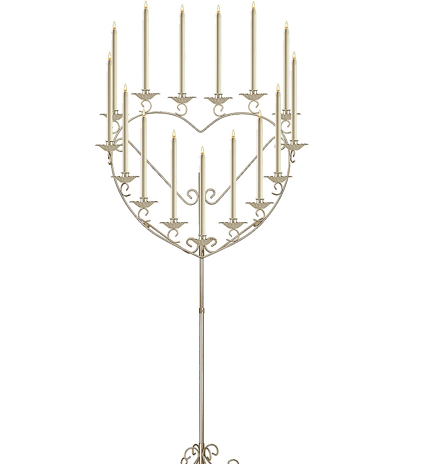 15-light Heart Candelabra in brass