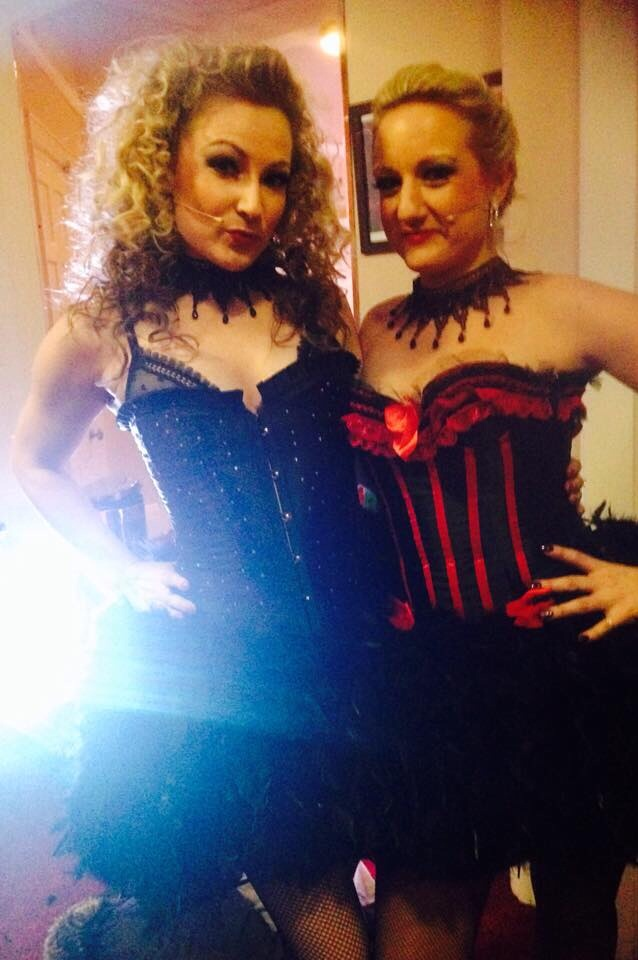 Jenn and Katie at one of our Moulin Rouge nights