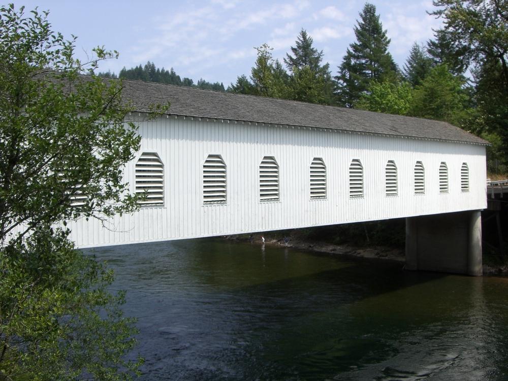 Goodpasture Bridge, McKenzie River, Oregon