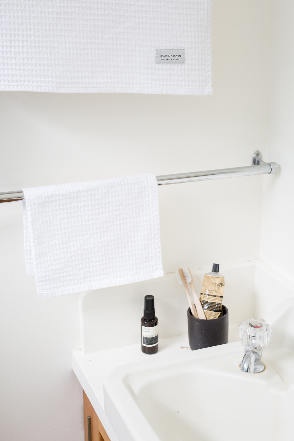 Waffle towels for Mavis & Osborn, styling & photography by Aimee Magne