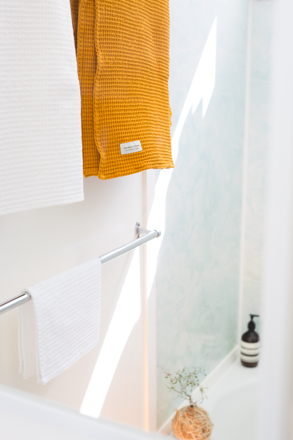 Waffle towels for Mavis & Osborn, photography & styling by Aimee Magne